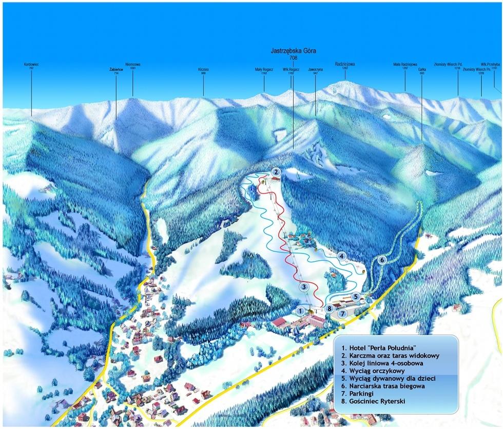 ferie_zimowe_ryterski_raj_stok narciarski_ rytro